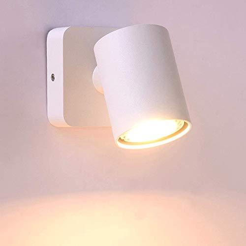 Hines Lámparas de iluminación para dormitorio, luces LED lámpara de pared para lectura de mesilla Aparato de LED para interiores, foco de techo, aplique orientable aplique orientable