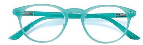 Fitsch Online UG VICTORIA hoogwaardige leesbril +1,0 turquoise MALLORCA flexibele beugel voor hem & haar