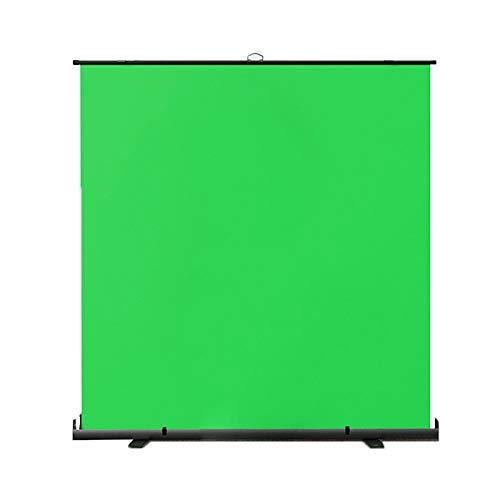 GYX-Décoration Green Screen, Hintergrundentfernung mit Automatisch Arretierendem Rahmen, Fotografie Hintergrund Foto Video Studio Stoff Hintergrund Bildschirm, für Video Fotostudio