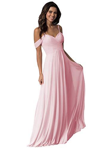 Light Pink Off the Shoulder Wedding Dress