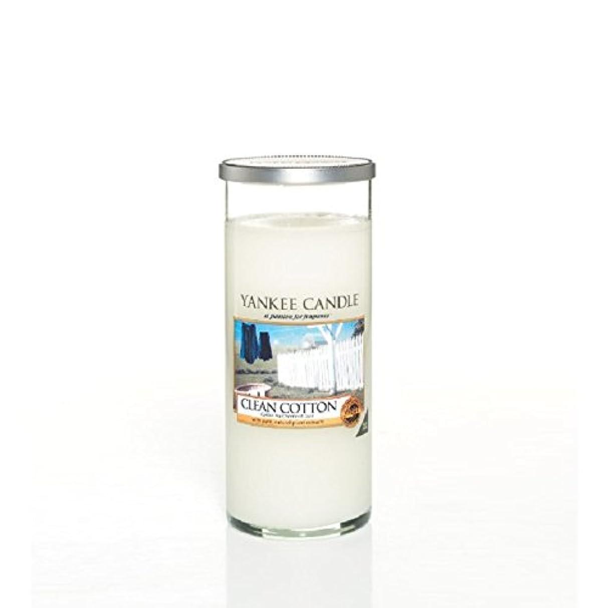操る戦士葡萄Yankee Candles Large Pillar Candle - Clean Cotton (Pack of 2) - ヤンキーキャンドル大きな柱キャンドル - きれいな綿 (x2) [並行輸入品]