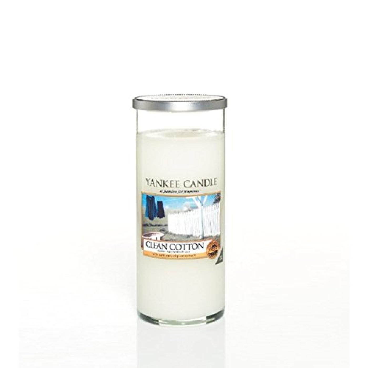 インカ帝国警戒自動化Yankee Candles Large Pillar Candle - Clean Cotton (Pack of 2) - ヤンキーキャンドル大きな柱キャンドル - きれいな綿 (x2) [並行輸入品]