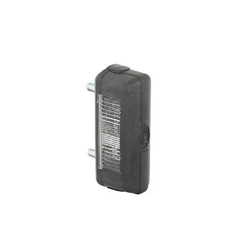 HELLA 2KA 001 389-101 Kennzeichenleuchte - 12/24V - Anbau - Lichtscheibenfarbe: glasklar - Stecker: Flachstecker - hinten/links/rechts