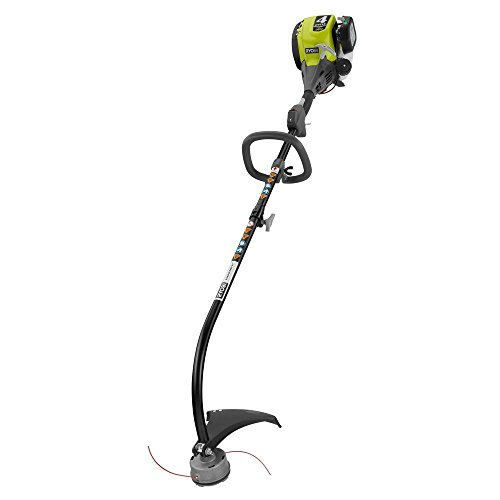 Buy Discount Ryobi RY34426 4-Cycle 30 cc Attachment Capable Curved Shaft Gas Trimmer