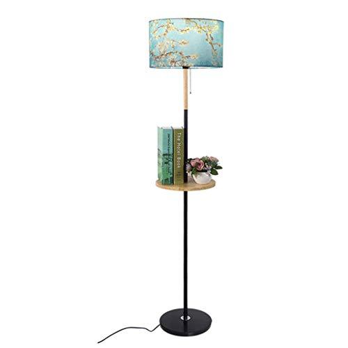 Lampes de chevet Lampadaire Table Basse Lampadaire Rack Plateau avec Lampe De Table en Bois Salon en Bois Lampe De Plancher De Chambre Simple Moderne Chaud Lampadaire