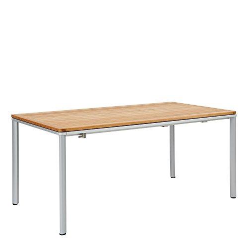 GARPA Portland Aluminium Tisch 165 x 90 Teak