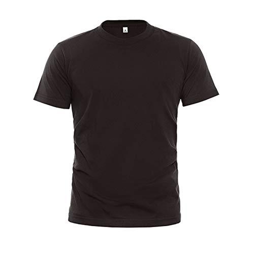 SSBZYES Camiseta para Hombre Camiseta de Verano de Manga Corta para Camiseta de Cuello Redondo Camiseta de algodón Puro Camiseta Holgada de Manga Corta de Color sólido Camiseta de Cultura Corporativa