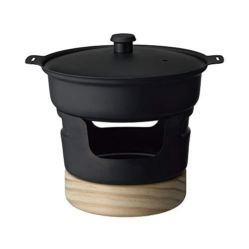 ドウシシャ 鉄なべ ミニ 470ml 固形燃料 ブラック レシピ付き LivE