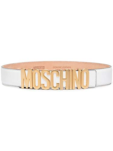 Luxury Fashion | Moschino Dames A800980030001 Wit Leer Riemen | Seizoen Permanent