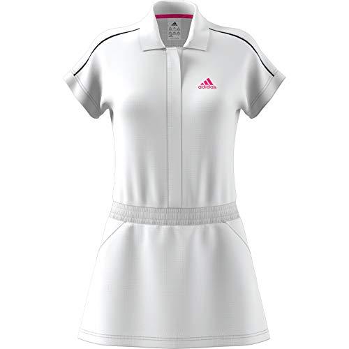 adidas Seasonal Dress – Vestito da Donna, Colore: Bianco (Bianco/Rosa)