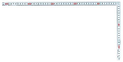 Cuadrados ángulo Maestra shinwa Plata medición de Carpintero Ojos con 50cm 10653