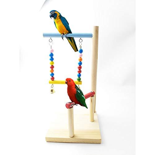 FANXU Parrot Playstand Bird Training Stand, Mesa De Sobremesa Portátil Bird Perch Spin Training Perch para Periquitos Conures Lovebirds O Cockatiels 13x14x27cm