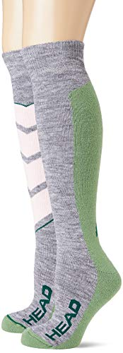 Head V-shape Kneehigh Ski Socks (2 Pack) Calcetines de esquí, colores mezclados,...