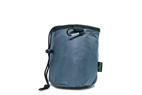 SOHFA Wäscheklammerbeutel mit Karabinerhaken zum aufhängen - Klammerbeutel für bis zu 150 Wäscheklammern (Grau)