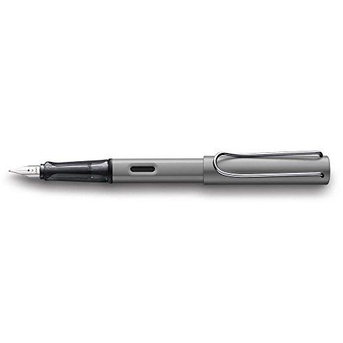 LAMY AL-star Füllhalter 026 – Füller aus Aluminium in der Farbe Graphit mit transparentem Griffstück und Stahlfeder – Federstärke M
