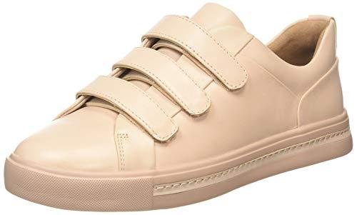 Clarks Damen Un Maui Strap Sneaker, Blau (Blush Leather Blush Leather), 41 EU