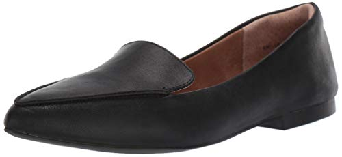 Amazon Essentials Women's Loafer Flat, Black, 7.5 B US