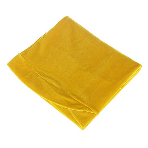 Eastery Stretch Luxus Gefaltete Samt Turban Kopf Jersey Wrap Hijab Lange Einfacher Stil Headwrap Schal Krawatte Haar (Color : Gelb, Einheitsgröße : One Size)