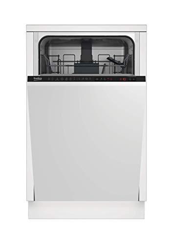 Beko DIS26021 lavavajilla Totalmente integrado 10 cubiertos A++ - Lavavajillas (Totalmente integrado, Metálico, Negro, LCD, 10 cubiertos, 47 dB)