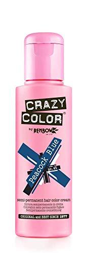 Crazy Color Peacook Blue Nº 45 Crema Colorante del Cabello Semi-permanente