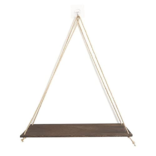 Hanging Rope Rack For Wall Decoration Easy To Hang Modern Rustic Home Rack(Charcoal L)