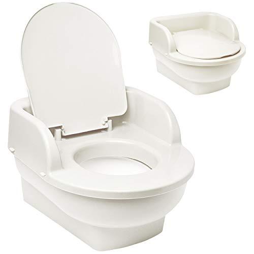 alles-meine.de GmbH Kindertoilette - Töpfchen / Nachttopf / Babytopf - mit Deckel - weiß - Bieco - groß - Reisetoilette - Babytöpfchen / Kindertopf / Lerntöpfchen - Toilettentrai..