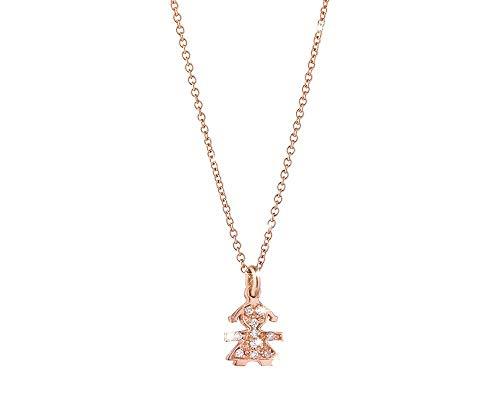 leBebé/Le Briciole/collana e ciondolo femminuccia/oro rosa e diamanti