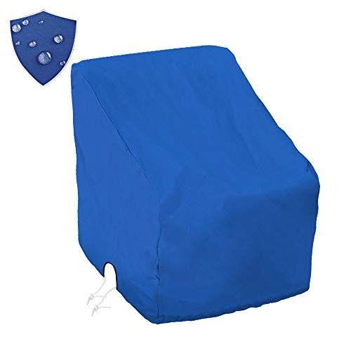 Boat Center Console Cover Large Size 600D Heavy Duty Waterproof Oxford Blue