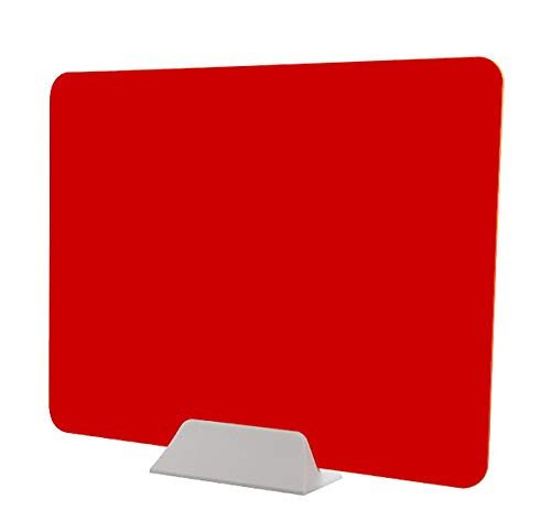 Pantalla de privacidad, Oficina Biombo, técnico del clavo estornudo de pantalla para Tienda Contadores y supermercados escuela,Rojo,40 * 60cm