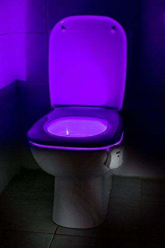 Auraglow - Luce notturna a LED per WC, con cambiamento di colore e sensore di movimento, per allenarsi con il vasino