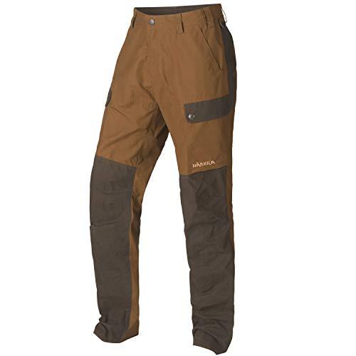 Härkila Pantalon de chasse imperméable pour homme Asmund – Pantalon de chasse pour chasseur – Pantalon de chasse pirale silencieux avec traitement ciré – Taille : 56 – Couleur : orange
