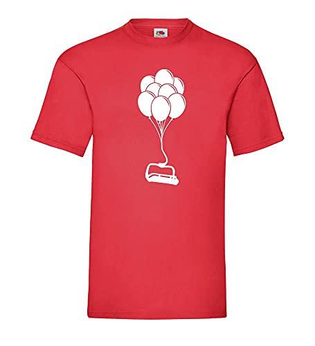 Shirt84.de - Camiseta para hombre, diseño de Sessellift an Ballons, rojo, L