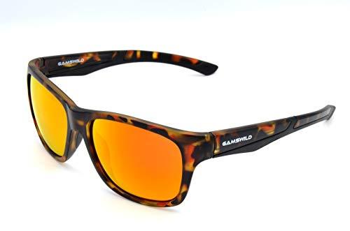 Gamswild Sonnenbrillen WM4934 GAMSSTYLE Mode Brille Damen Herren Markenbrille transparent - braun getigert, Rot Orange