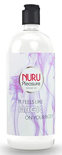 Nuru Gel Premium, extrem glatt, geruchlos und geschmacksneutral, geeignet für die erotische Ganzkörpermassage (250 ML)