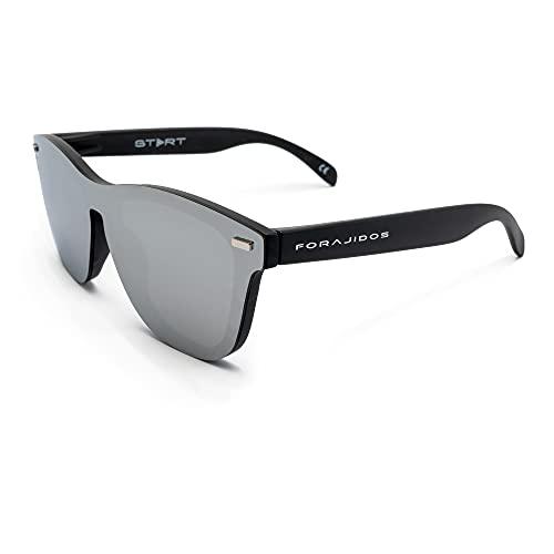 FORAJIDOS Gafas de Sol Polarizadas para Hombre y Mujer con Protección UV400 (PLATA)