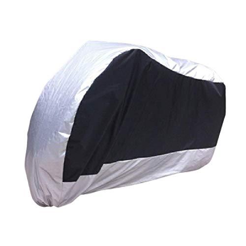 aolongwl Funda de motocicleta para motocicleta para todo el año, impermeable, a prueba de polvo, protección UV al aire libre, cubierta de lluvia XXL