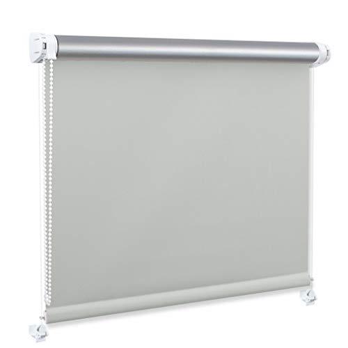 Generisch DECOSTEEL Thermo Rollo Ohne Bohren Thermobeschichtung Wärmedämmung Verdunkelung Grau [68x150 cm]