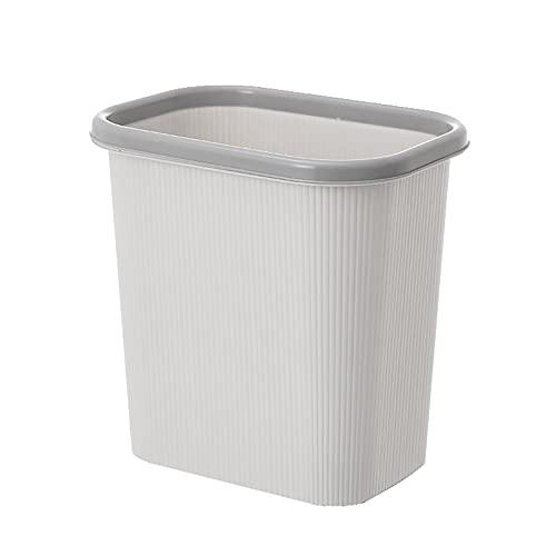 Bote de Basura de plástico sin Tapa, Bote de Basura doméstico con Anillo de presión, Bote de Basura de clasificación de Cocina, Bote de Basura del Inodoro de la Sala de Estar (26.8 * 19.3 * 27cm)