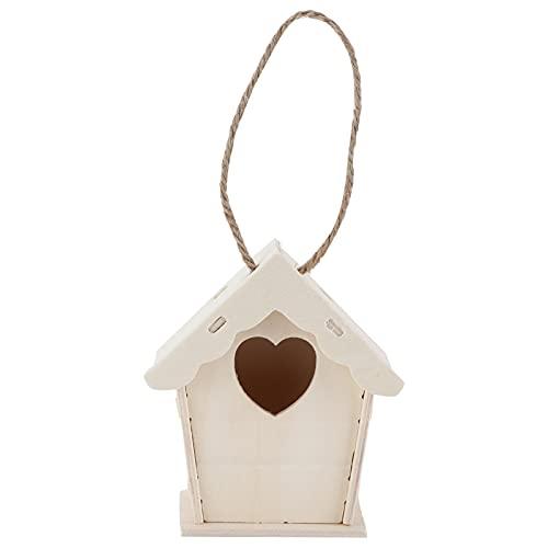 Kit di casetta per uccelli verniciabile fai-da-te, kit di casetta per uccelli in legno per bambini senza spigoli vivi per regali per bambini per casetta per uccelli fai da te(12 pigmenti di colore)