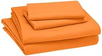 Amazon Basics Kid s Sheet Set - Soft Easy-Wash Lightweight Microfiber - Queen Bright Orange