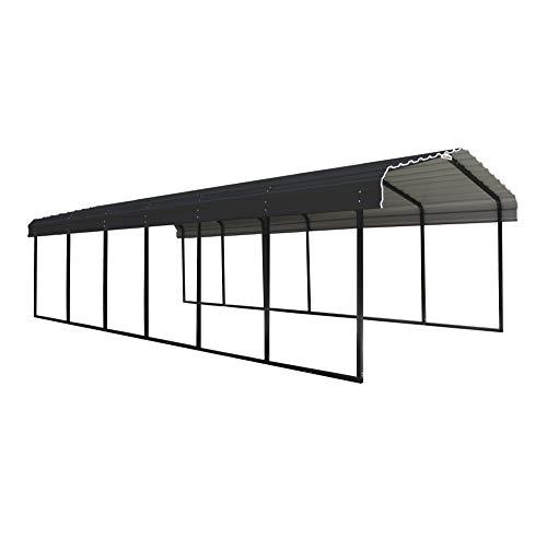 Arrow Shed 12 x 29 x 7-Foot Heavy Duty Galvanized Steel Metal Multi-Use Shelter, Shade, Carport, 12'...