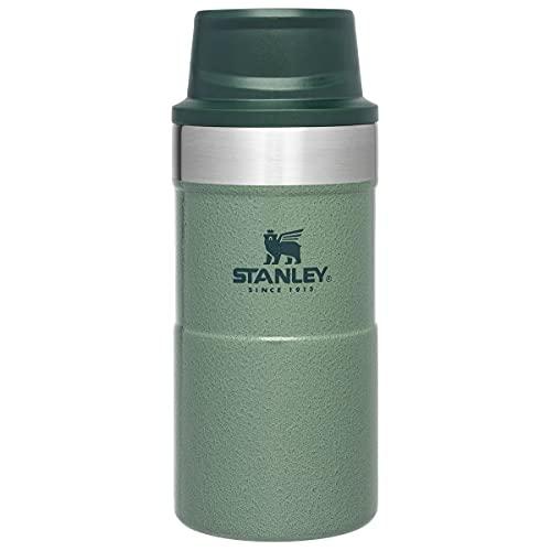 Stanley Trigger Action Travel Mug 0.25L / 8.5OZ Hammertone Green – Szczelny - BEZ BPA - Kubek Podróżny ze Stali Nierdzewnej do większości ekspresów - Do Mycia wZmywarce