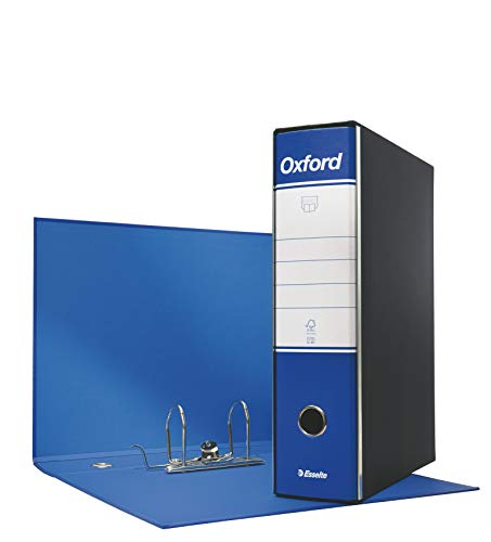 ESSELTE G85 OXFORD Registratore - f.to protocollo dorso 8 cm - Blu - Confezione da 6 pezzi - 390785050