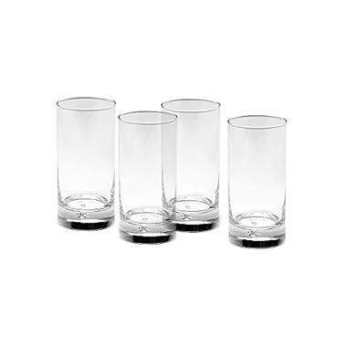 Gourmet Basics by Mikasa Disco Highball Glass, 16.7-Ounce, Clear, Set of 4