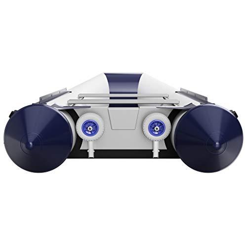 SUPROD Slipräder, Heckräder, Transporträder für Schlauchboot, mit EIN-Hand Bedienfunktion, HD200, Edelstahl V4A, grau/blau