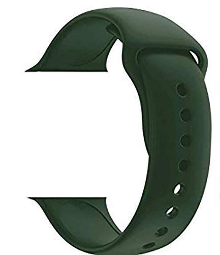 Jotech® Soft Silicone Strap Band for iWatch 38mm / 40mm Apple Watch Series 1/2/3/4/5 (Dark Green)