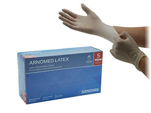 ARNOMED Gants en latex non poudrés gants jetables taille S à partir de 100 pièces/boîte en S M L XL (L)