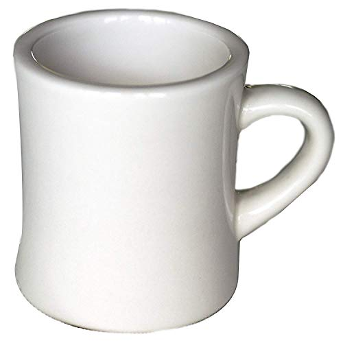 Culver 10-Ounce Ceramic Retro Diner Style Heavyweight Restaurant Mug (Single Mug)