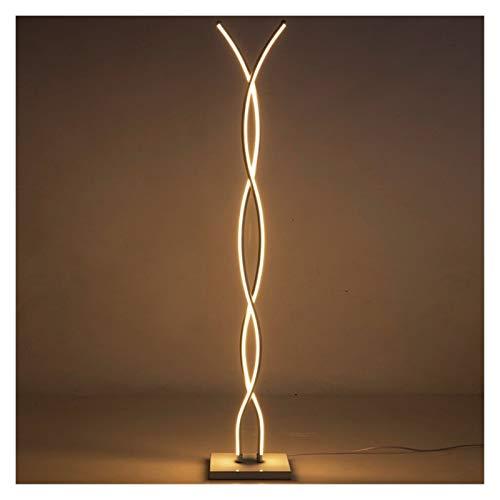 JSJJARF Lampara de pie Nordic LED de atenuación Simple lámpara de pie for la Sala de Estar lámpara de cabecera Permanente Luces de pie Moderna Lámparas Decoración Cuerpo de iluminación