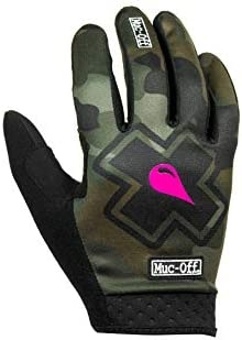 Muc Off Camo MTB Gloves Medium Premium Handmade Slip On Gloves for Bike Riding Breathable Touch product image